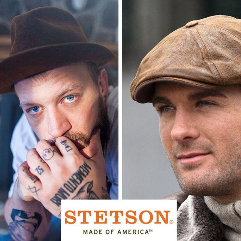 Caps Und Hüte Mann Trägt Wieder Kopfbedeckungen